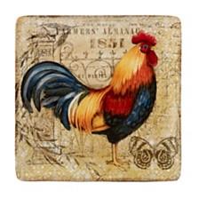 Certified International Gilded Rooster Square Platter
