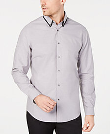 I.N.C. Men's Tipped Collar Shirt, Created for Macy's