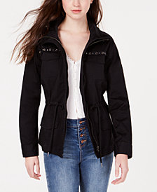 American Rag Juniors' Stud-Trimmed Cargo Jacket, Created for Macy's