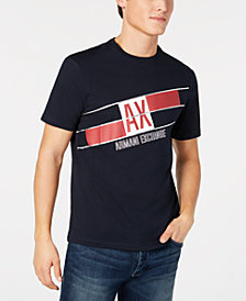 A|X Armani Exchange Men's Diagonal Logo Print T-Shirt, Created for Macy's