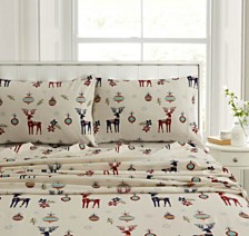 Reindeer Heavyweight Flannel King Pillow Pair Set