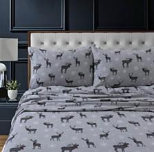 Checkered Buck Heavyweight Cotton Flannel Printed Extra Deep Pocket Queen Sheet Set