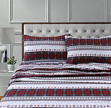 Comfy Stripe 170-Gsm Cotton Flannel Printed King Pillow Pair