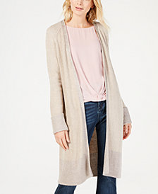 I.N.C. Metallic-Trim Cozy Cardigan, Created for Macy's