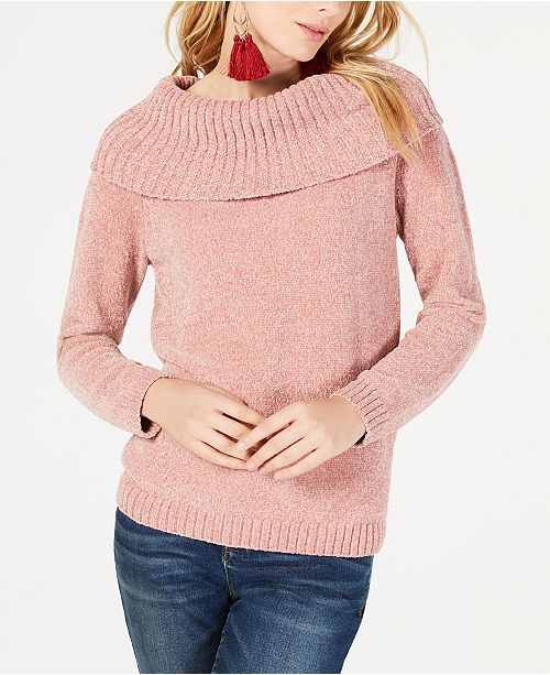 INC International Concepts INC Chenille Cowl-Neck Sweater, Created for Macy's
