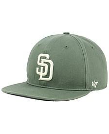San Diego Padres Moss Snapback Cap