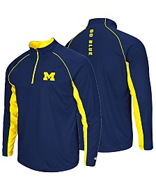 ColosseumMen's Michigan Wolverines Rival Quarter-Zip Pullover
