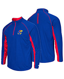 Colosseum Men's Kansas Jayhawks Rival Quarter-Zip Pullover