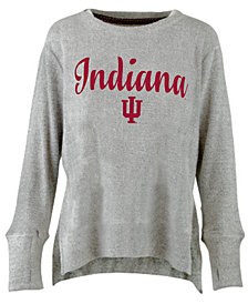 Pressbox Women's Indiana Hoosiers Cuddle Knit Sweatshirt