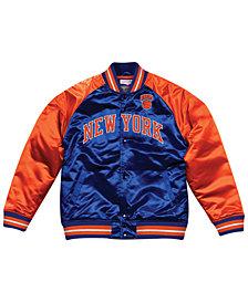 Mitchell & Ness Men's New York Knicks Tough Season Satin Jacket