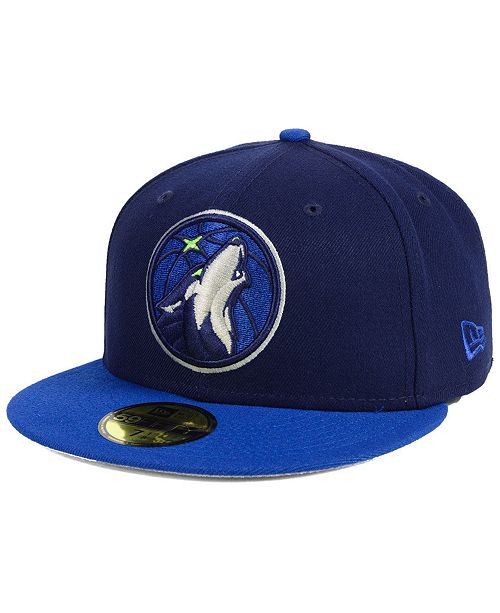 cheap for discount a6524 61e83 ... New Era Minnesota Timberwolves Basic 2 Tone 59FIFTY Fitted Cap ...