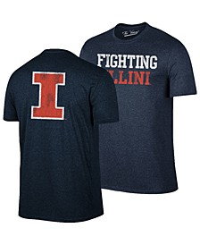 Men's Illinois Fighting Illini Team Stacked Dual Blend T-Shirt