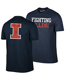 Retro Brand Men's Illinois Fighting Illini Team Stacked Dual Blend T-Shirt