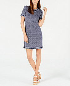 MICHAEL Michael Kors Vine-Print Dress, In Regular & Petite Sizes