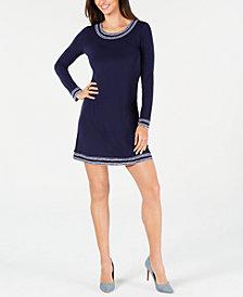 MICHAEL Michael Kors Border-Print Dress, In Regular & Petite Sizes