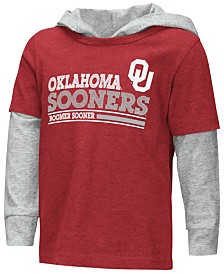 Colosseum Oklahoma Sooners Hooded Long Sleeve T-Shirt, Toddler Boys (2T-4T)