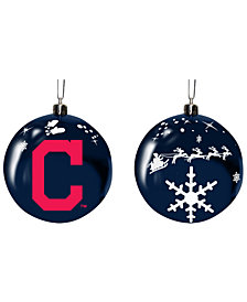 """Memory Company Cleveland Indians 3"""" Sled Glass Ball"""
