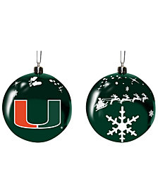 "Memory Company Miami Hurricanes 3"" Sled Glass Ball"