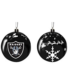 "Memory Company Oakland Raiders 3"" Sled Glass Ball"