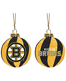 "Memory Company Boston Bruins 3"" Sparkle Glass Ball"