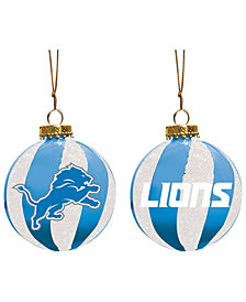 "Memory Company Detroit Lions 3"" Sparkle Glass Ball"