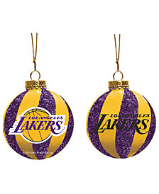 "Memory Company Los Angeles Lakers 3"" Sparkle Glass Ball"