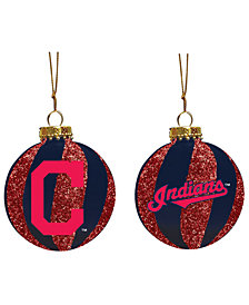 """Memory Company Cleveland Indians 3"""" Sparkle Glass Ball"""