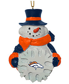 Memory Company Denver Broncos Snowflake Snowman Ornament