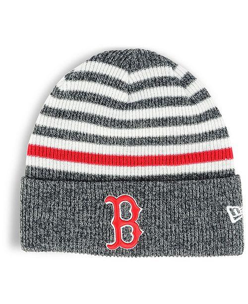 483884a3f79 New Era Boston Red Sox Striped Cuff Knit Hat - Sports Fan Shop By ...