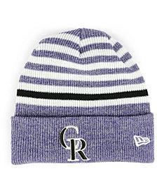 New Era Colorado Rockies Striped Cuff Knit Hat