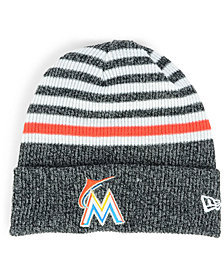 New Era Miami Marlins Striped Cuff Knit Hat