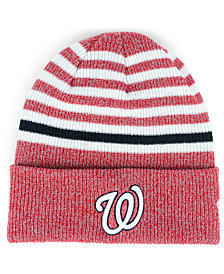 New Era Washington Nationals Striped Cuff Knit Hat