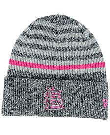 New Era St. Louis Cardinals Striped Cuff Knit Hat