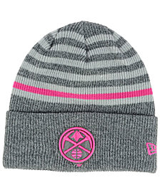 New Era Denver Nuggets Striped Cuff Knit Hat