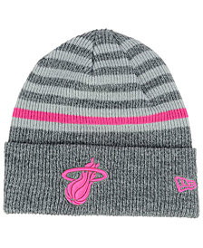 New Era Miami Heat Striped Cuff Knit Hat