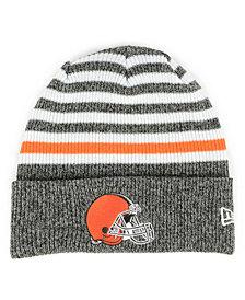 New Era Cleveland Browns Striped2 Cuff Knit Hat