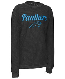 Pressbox Women's Carolina Panthers Comfy Cord Top