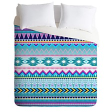 Deny Designs Iveta Abolina Tribal Teal Twin Duvet Set