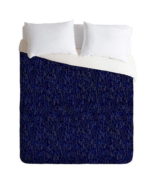 Deny Designs Iveta Abolina Royal Blue Silk Queen Duvet Set