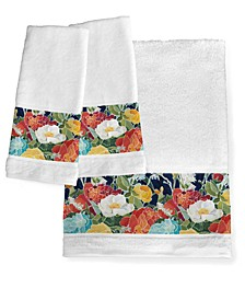 Midnight Floral Hand Towels