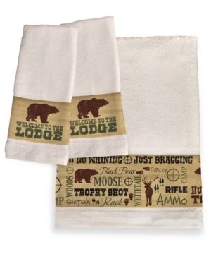Image of Welcome To The Lodge Hand Towels Bedding