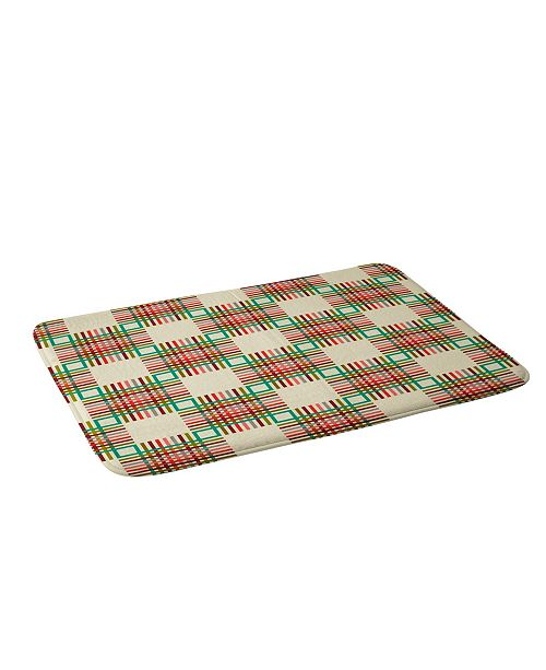 Deny Designs Holli Zollinger Cross Hatch Color Bath Mat