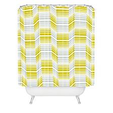 Heather Dutton Delineate Citron Shower Curtain
