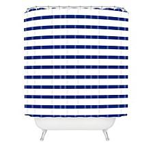 Holli Zollinger Nautical Stripe Shower Curtain