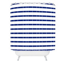 Deny Designs Holli Zollinger Nautical Stripe Shower Curtain