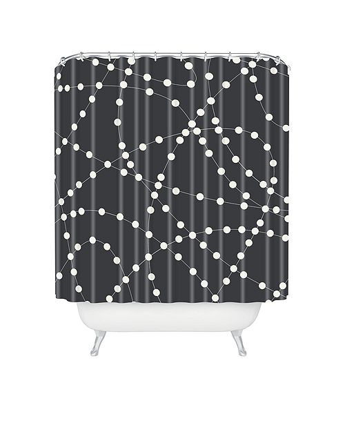 Deny Designs Holli Zollinger Dotted Line Shower Curtain