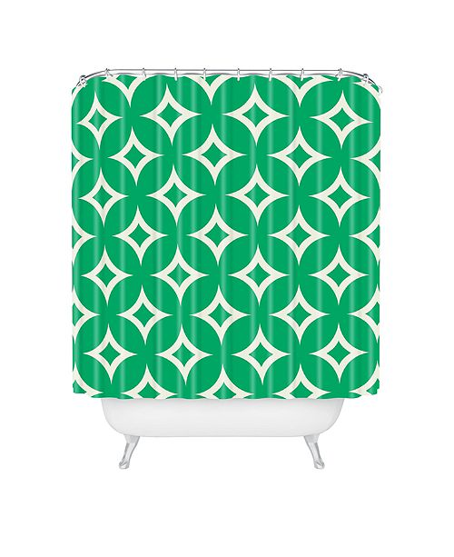 Deny Designs Holli Zollinger Emerald Diamonds Shower Curtain