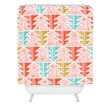 Deny Designs Heather Dutton Trim A Tree Chill Shower Curtain