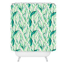 Holli Zollinger Jungle Palm Tropica Shower Curtain