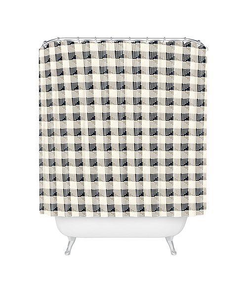 Deny Designs Holli Zollinger Anthology Of Pattern Seville Gingham Black Shower Curtain